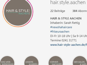 Haare und Stil