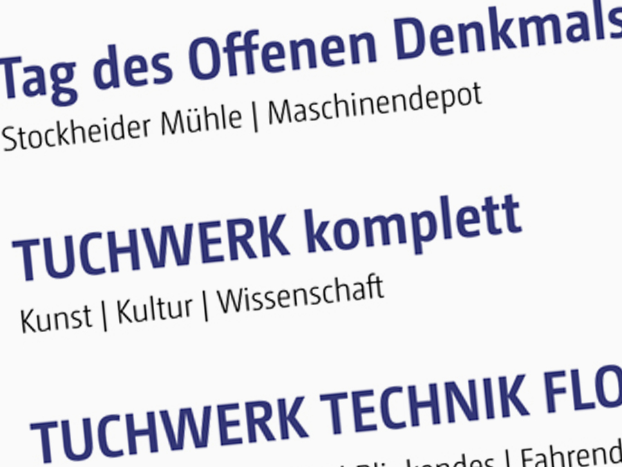 """Eventreihe """"Tuchwerk komplett"""""""